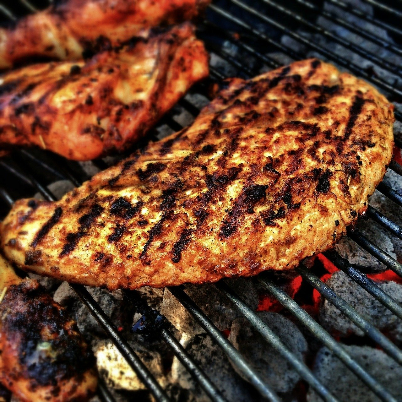 barbecue, meat, grill